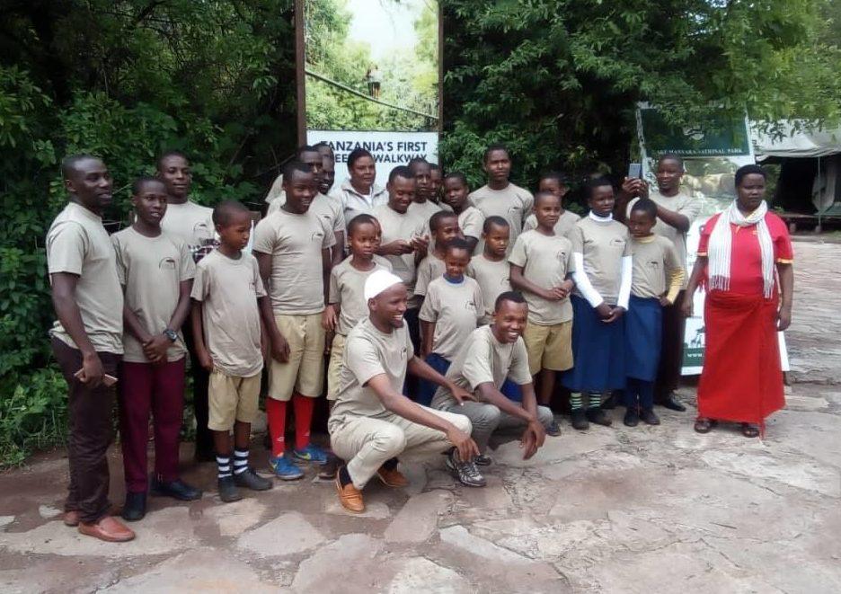 élèves tanzanie safari