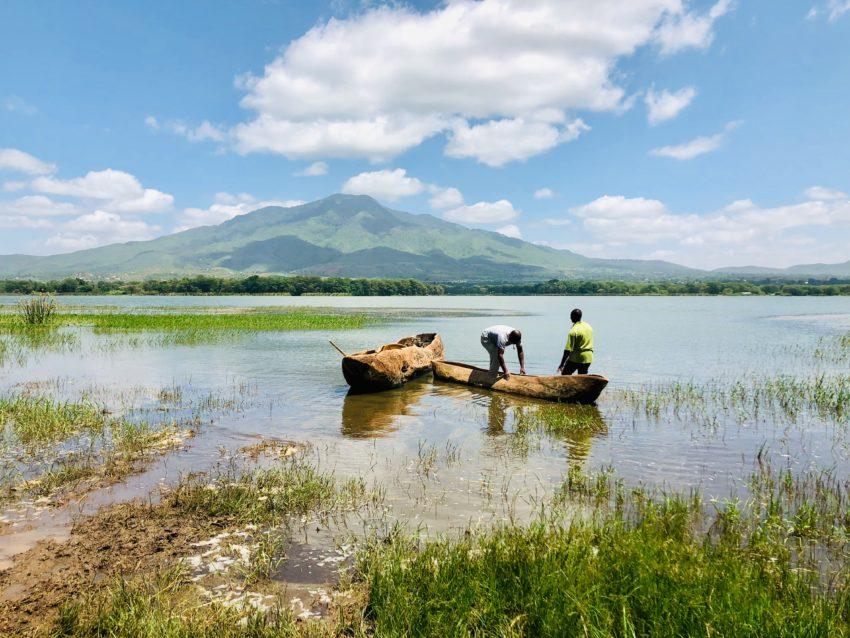 En Tanzanie sur le lac Babati