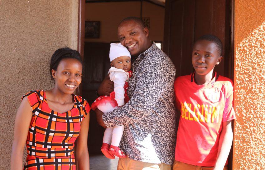 John Mahu et sa famille